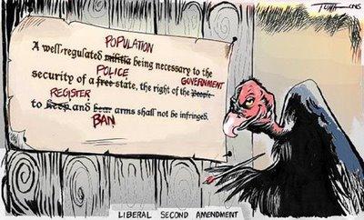 Cartoon - Liberal Second Amendment